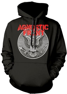 Agnostic Front Against All Eagle Hooded Sweatshirt S