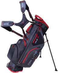 Big Max Dri Lite Hybrid Charcoal/Black/Red Stand Bag