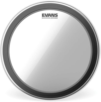Evans 22'' EMAD2 Bass Clear