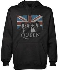 Rock Off Queen Unisex Pullover Hoodie: Vintage Union Jack 3XL