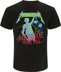 Metallica Unisex Tee And Justice For All Original (Back Print) Black
