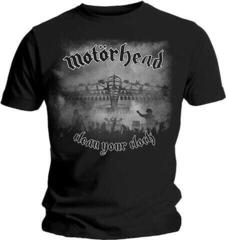 Motörhead Motorhead Unisex Tee Clean Your Clock B&W (Back Print) Black