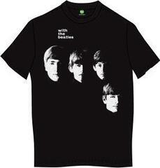 The Beatles Unisex Premium Tee With The Beatles (Back Print) Black