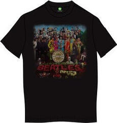 The Beatles Unisex Premium Tee Sgt Pepper (Back Print) Black