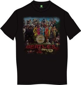 The Beatles Unisex Premium Tee Sgt Pepper (Back Print) S