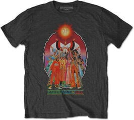 Rock Off Earth, Wind & Fire Unisex Tee Let's Groove (Back Print) Dark Grey