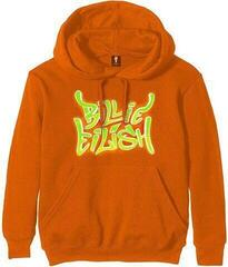 Billie Eilish Unisex Hoodie Airbrush Flames Blohsh Orange L