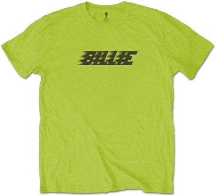 Billie Eilish Unisex Tee Racer Logo & Blohsh Lime Green XL