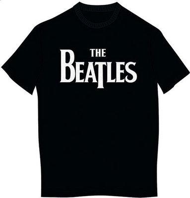 The Beatles Kid's Tee Drop T Logo Black (Boy's Fit/Retail Pack) (9 - 10 Years)