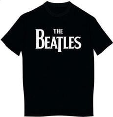 The Beatles Unisex Tee Drop T Logo Black (Retail Pack) L