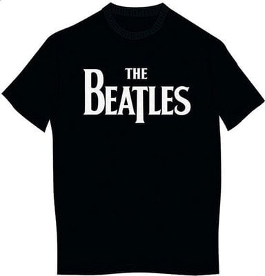The Beatles Unisex Tee Drop T Logo Black (Retail Pack) M