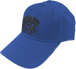 Queen Unisex Baseball Cap Black Classic Crest Blue