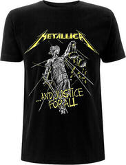 Metallica Unisex Tee And Justice For All Tracks (Back Print) L