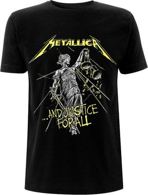 Metallica Unisex Tee And Justice For All Tracks (Back Print) S