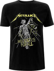 Metallica Unisex Tee And Justice For All Tracks (Back Print) Black