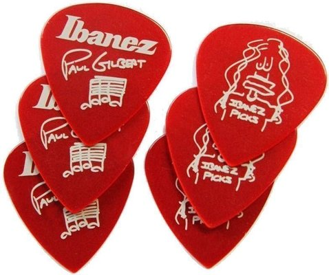 Ibanez 1000PG-CA Paul Gilbert Pick Set of 6 Red