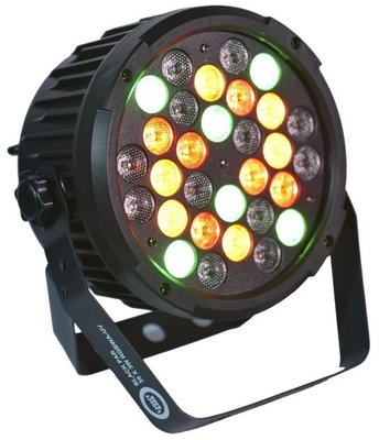 Light4Me Black Par 30X3W RGBa-UV LED