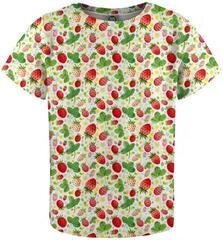 Mr. Gugu and Miss Go Strawberries Pattern T-Shirt for Kids Fullprint
