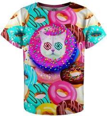 Mr. Gugu and Miss Go Donut Cat T-Shirt for Kids Fullprint