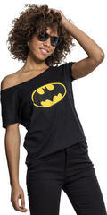 Batman Ladies Batman Logo Tee Black
