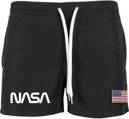 NASA Worm Logo Swim Shorts Black