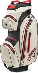 Callaway Hyper Dry 15 Cart Bag Stone/Black/Red 2020