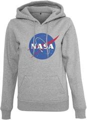 Mister Tee Ladies NASA Insignia Hoody Heather Grey