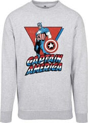 Captain America Crewneck Grey