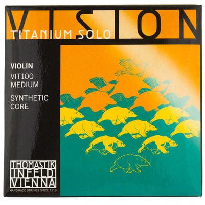 Thomastik VIT100 Vision Titanium Solo Violin String Set