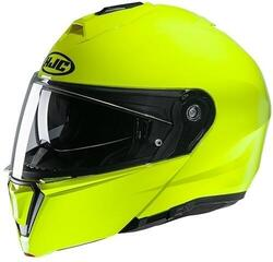 HJC i90 Solid Fluorescent Green