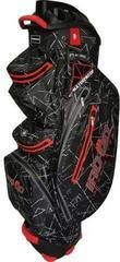 Bennington IRO QO 14 Waterproof Cart Bag Black Flash/Red
