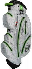 Bennington Sport QO 14 Waterproof Cart Bag Silver Flash/Lime