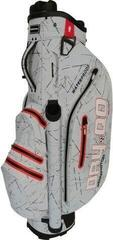 Bennington Dry QO 9 Waterproof Stand Bag Silver Flash/Red