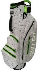 Bennington Dry 14+1 GO Waterproof Cart Bag Silver Flash/Lime