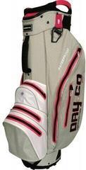 Bennington Dry 14+1 GO Waterproof Cart Bag Grey/White/Pink