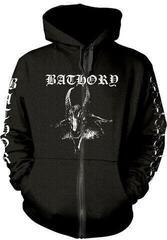 Bathory Goat Hooded Sweatshirt with Zip Black