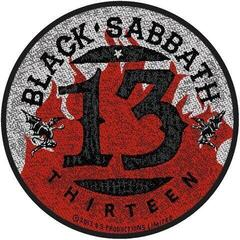 Black Sabbath 13 / Flames Circular (Packaged) Sew-On Patch