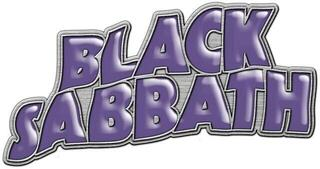 Black Sabbath Purple Logo Metal Pin Badge