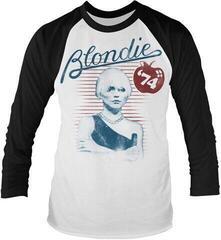 Blondie Apple 74 Long Sleeved Baseball Shirt White/Black