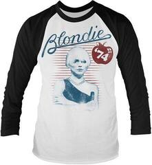 Blondie Apple 74 Long Sleeved Baseball Shirt White/Black