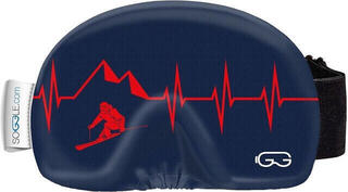 Soggle Goggle Cover Heartbeat Skier Red