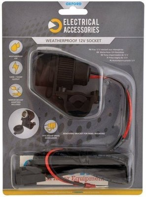Oxford 12V STD Accessory Plug Socket and 1.2mtr 10amp fused loom