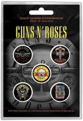 Guns N' Roses Bullet Logo Button Badge Set