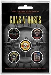 Guns N' Roses Bullet Logo Button Badge Set