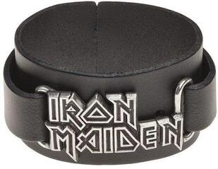 Iron Maiden Logo Leather Náramek
