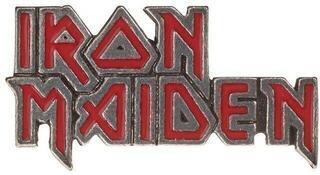 Iron Maiden Red Enamel Logo Pin Badge