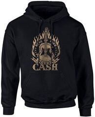 Johnny Cash Ring Of Fire Hooded Sweatshirt L