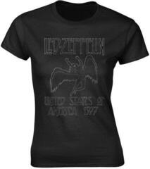 Led Zeppelin Usa 1977 Womens T-Shirt Black