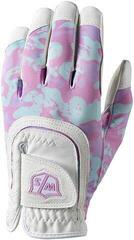 Wilson Staff Fit-All Junior Golf Glove White/Pink Camo Left Hand for Right Handed Golfers