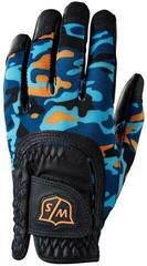 Wilson Staff Fit-All Junior Golf Glove Black/Orange/Blue Camo Left Hand for Right Handed Golfers